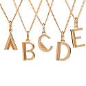 Art Deco Initial Necklace Gold image