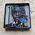 The Curve Ballet Earring In Blue Patina image