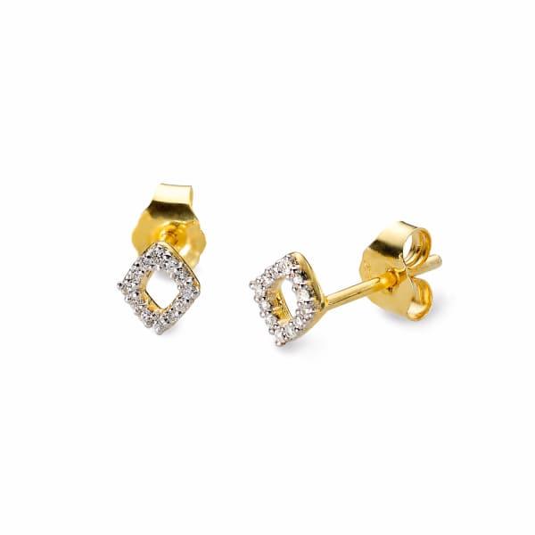 SHARON MILLS LONDON Lozenge Diamond Earrings