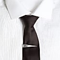 Tie Pin With Chain Silver image