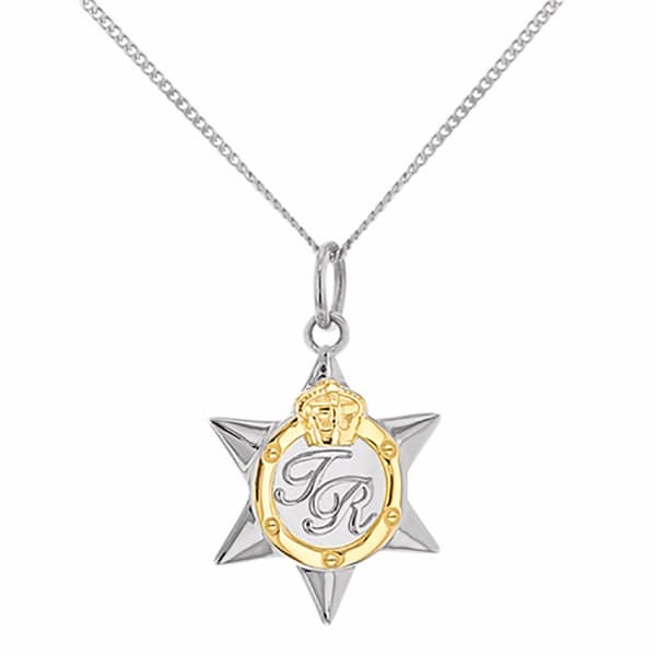 Mini Two Tone Star Medal Silver & Gold