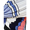 Red Blue & White Stripe Pleated Knit Top image