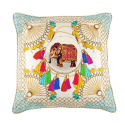Agra Cloud Large Silk Cushion image