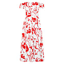 Victoria Dress Red Flowers image