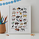 Animals Alphabet Print image