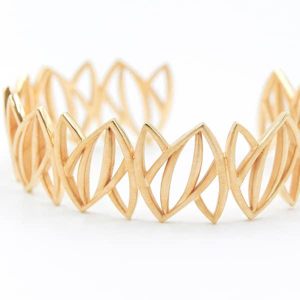 ANNA MACHADO JEWELRY Gold Leaves Cuff