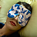 Pure Mulberry Silk Lavender Eye Mask Filigree Liberty Print image