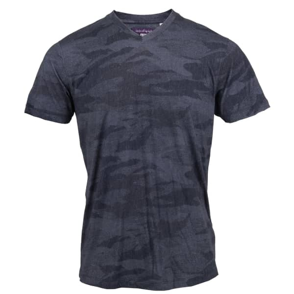 LORDS OF HARLECH Maze Tee In Charcoal Scribble Camo