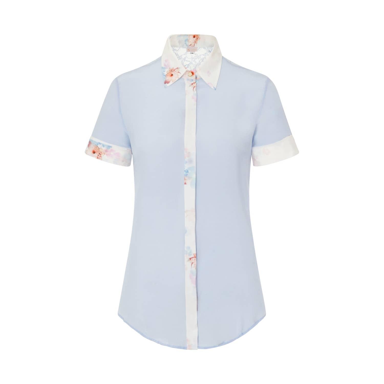 50bddbe36c360a Sky Blue Classic Silk Shirt image