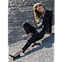 The Denise Recycled Leather Blazer In Black image