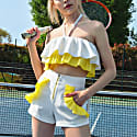 Endless Summer High Waisted Shorts In White image