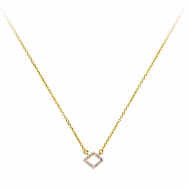 SHARON MILLS LONDON Lozenge Diamond Necklace