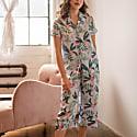Blue and White Floral, Short Sleeve Pyjama Set image
