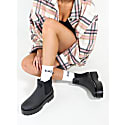 Lou Boots In Charcoal - Pineapple Leather image