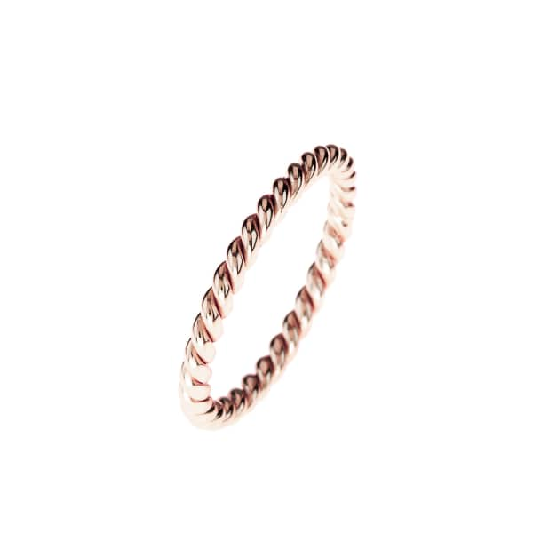 Cosmic Large Twisted Flax Ring Rosegold