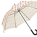 Frank French Bulldog Geometric Style Umbrella - Black Frame With A Red Dog On A Cream Background image