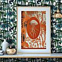Elemental Jellyfish - A3 Gold Art Print image
