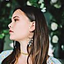 Moonstone & Amazonite Catalina Drop Earrings In Silver image