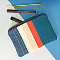 Lil Quilted Zip Pouch Blue Red Stripe image