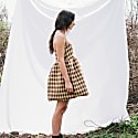 Convertible Midi Mini Dress - Brown, Neutrals image