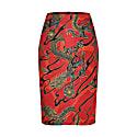 Emma Skirt Dragons Red image