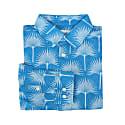 Men's Linen Shirt in Fan Palm Pale Blue And Mid Blue image
