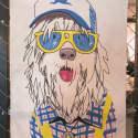 Shaggy Dog Tea Towel image
