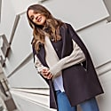 Wool Cashmere Single Breasted Cape French Navy image
