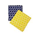 Tea Towel Set Dark Blue & Yellow image