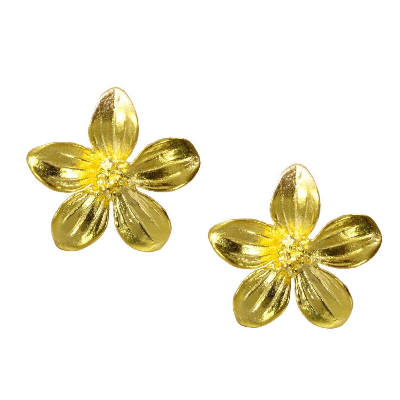 83cf9382174cf Daisy Gold Flower Stud Earrings by Ottoman Hands
