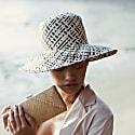 Borneo Fisherman Bucket Straw Hat In Black image