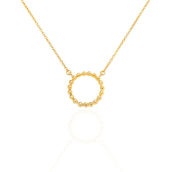 SHARON MILLS LONDON Bead Circle Necklace