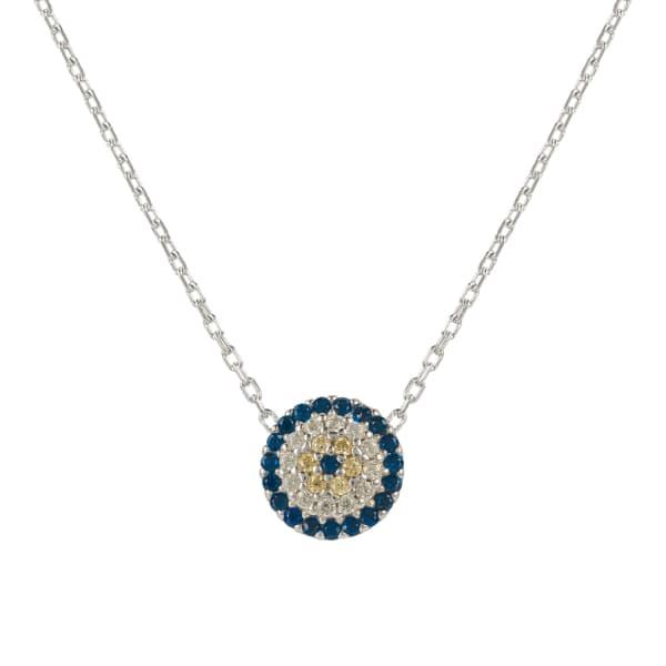 LATELITA LONDON Evil Eye Necklace Silver