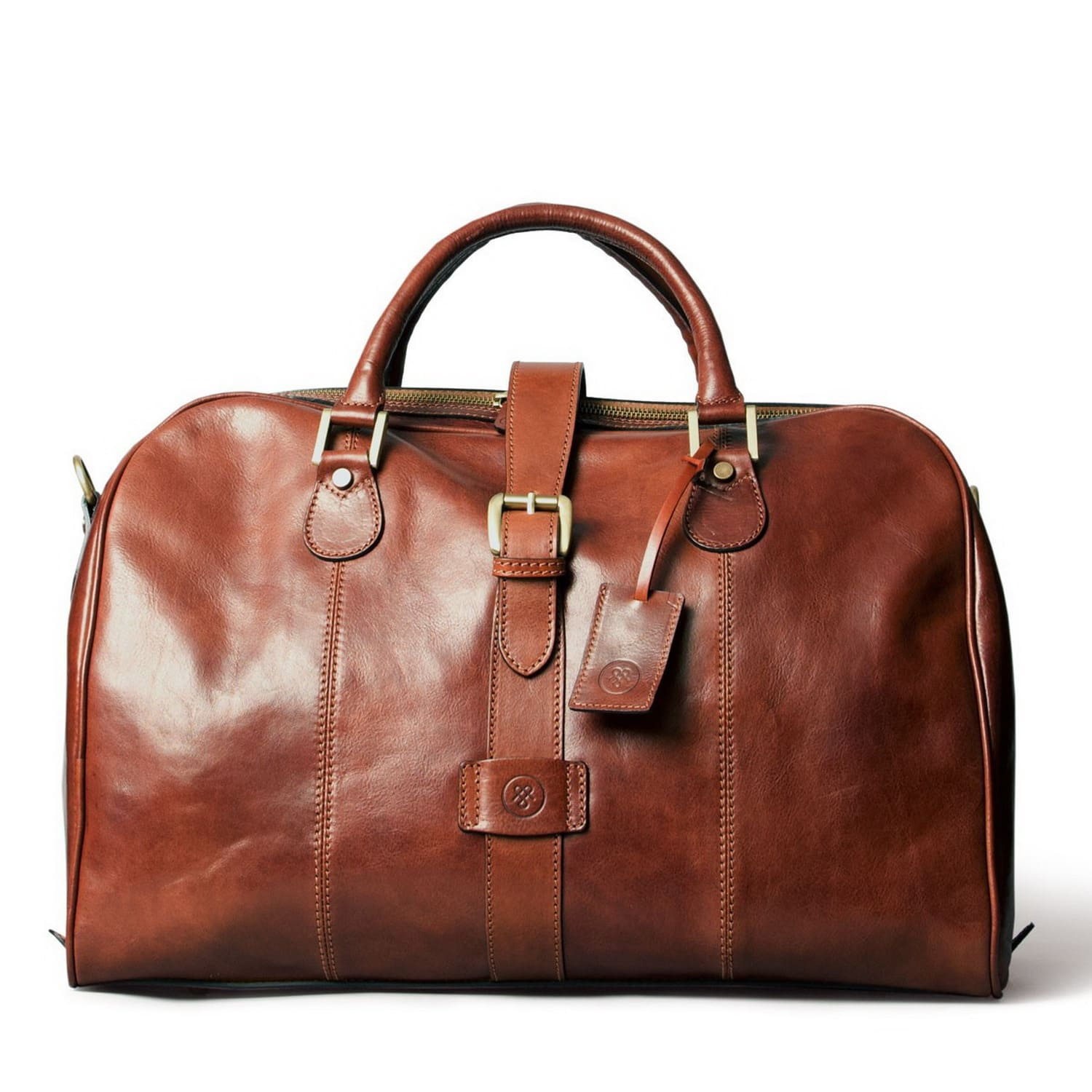 ff7f5f1549dbb Luxury Italian Leather Cabin Bag Farini Chestnut Tan | Maxwell Scott ...