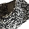 Cashmere Bouclé Diadem In Black & White Mélange image