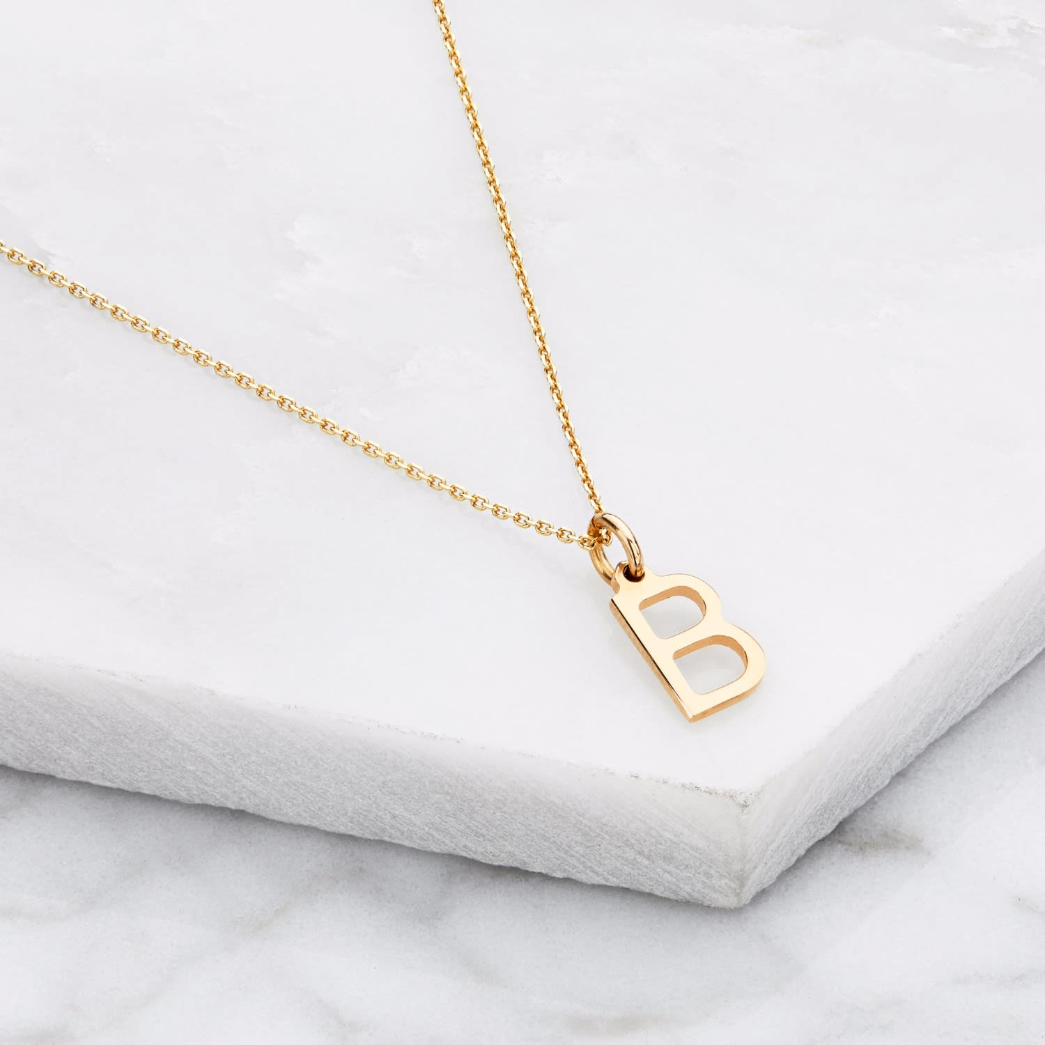 11a76956ac28f Solid Gold Small Initial Letter Charm Necklace by Lily & Roo