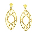 Gold Marquise Earrings image