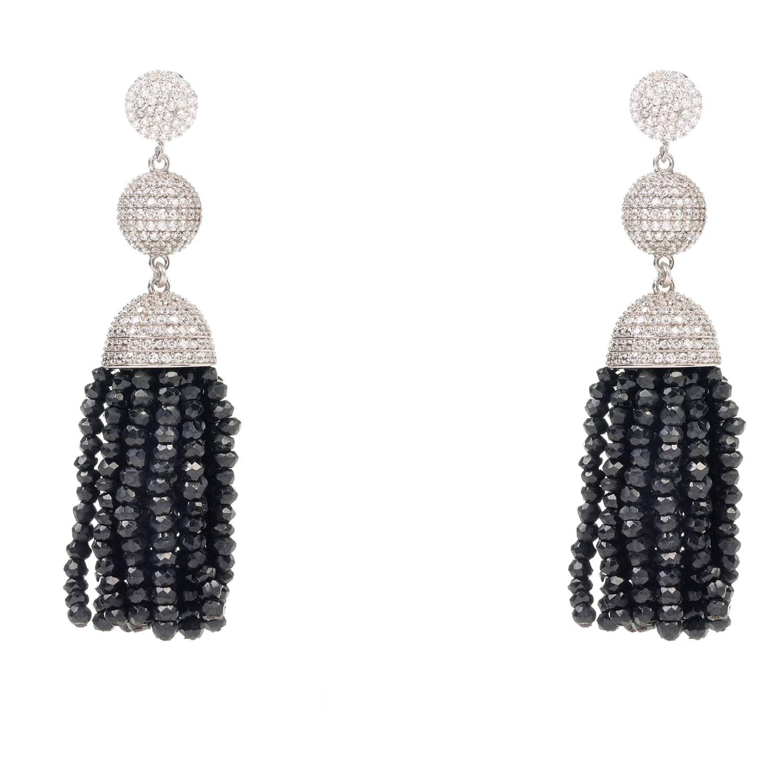 Latelita London Tassel Ball Necklace Black Spinel pSwBvjcd4