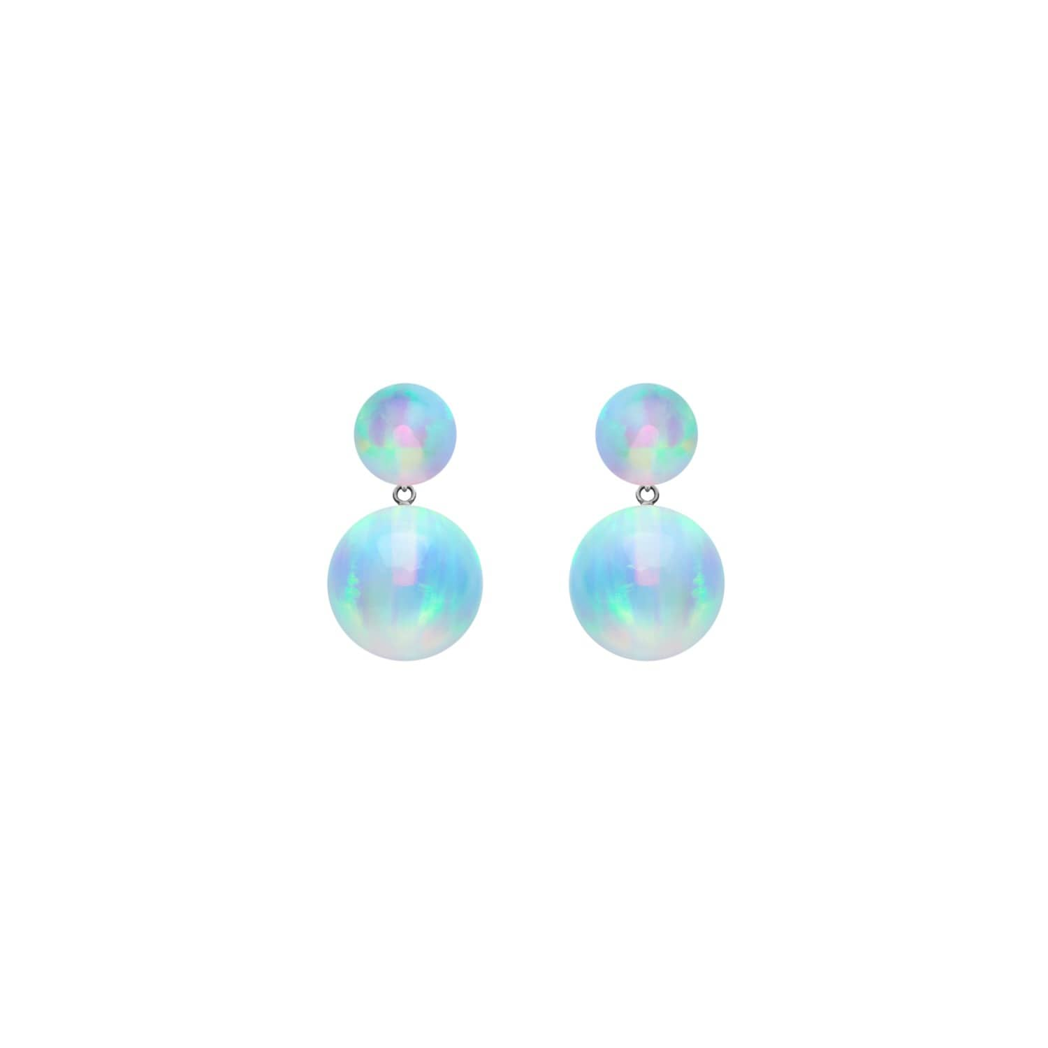 silver products original daisy earrings flower earri drop blue opal