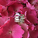 Silver Wave Ring With Pink Tourmaline image