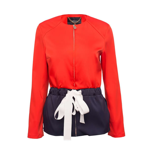 NISSA Casual Jacket In Contrasting Colors