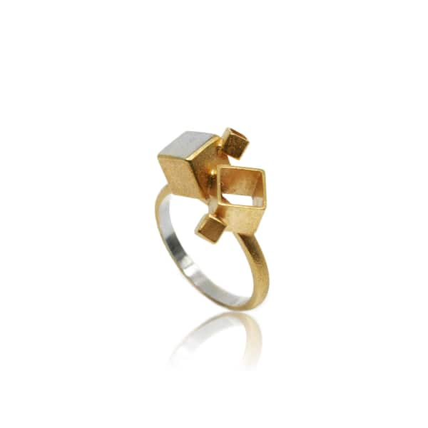 KAROLINA BIK JEWELLERY Fujimoto Middle Ring Gold