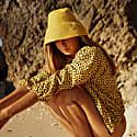 Naomi Jute Bucket Hat in Yellow image