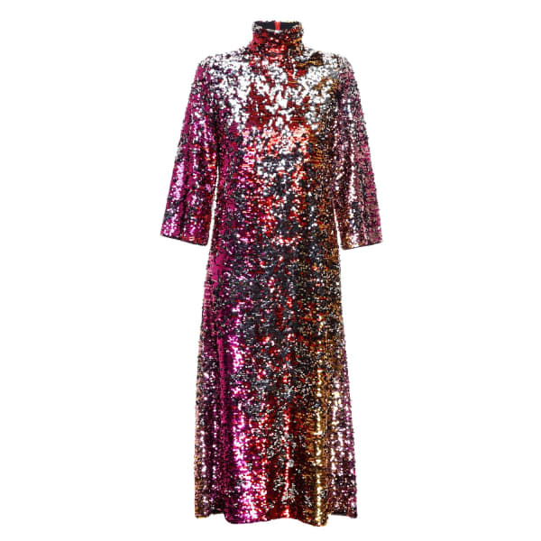 JIRI KALFAR Reversible Sequins Dress