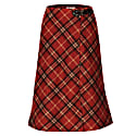Buckled Checked Wool Skirt image