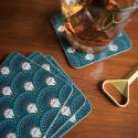 Deco Martini Drink Coasters image