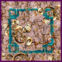 Window Earthy Rose Silk Square Scarf image
