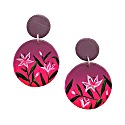 Dark Sunset Lily Clip On Drop Earrings image