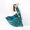 Luxury Long Silk Dress image