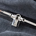 Nando Weekender Small - Anthracite Grey Canvas & Black Saffiano Leather image